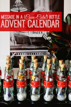 Perfect for the holidays, this Coca-Cola bottle advent calendar is a memorable way to bring the family together. Our partner Alejandra gives us instructions and offers great tips on what to put inside each bottle.