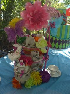 Kayla's Mad Hatter Tea Party | CatchMyParty.com