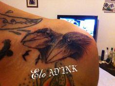 tattoo tetes de corbeaux par Elo de AD'INK Tattoo Studio