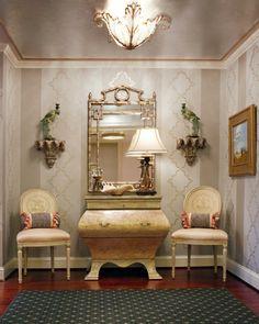 ** Mirror over chest /Transitional Interior Design Baltimore, Interior designer Washin...