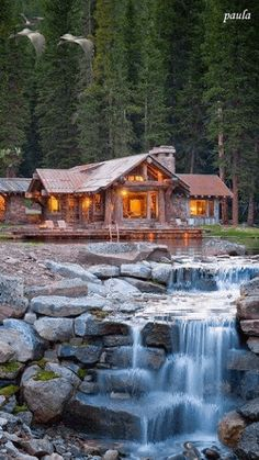 Beautiful cabin in the woods <3