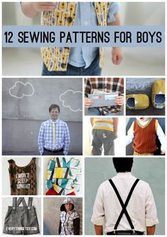 12 Sewing Patterns for Boys {Free Designs}