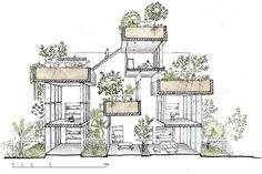 Imposing House in Vietnam with Internal Vertical Gardens