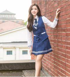 65085e87d1fa6 2017 nueva moda Navy Seals uniformes traje de verano azul uniforme escolar  coreano uniforme escolar