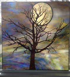 Tree and Moon - Copper foil panel15