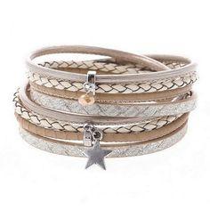 Gorgeous beige wrap bracelet £10  https://www.peonyandmint.com/collections/jewellery-bracelets/products/beige-star-faux-leather-wrap-around-bracelet