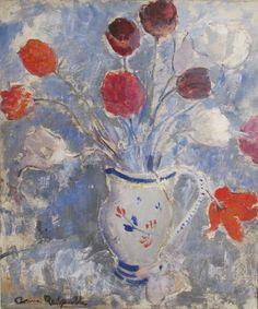 Tulips ~ Anne Redpath ~  (Scottish 1895-1965)