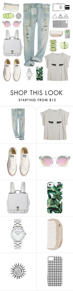"""""""FOR A SIMPLE WALK"""" by emily-fox-i ❤ liked on Polyvore featuring Rodebjer, Converse, Madewell, Proenza Schouler, Milly, Chanel, Marc by Marc Jacobs, Ladurée, HAY and denim"""
