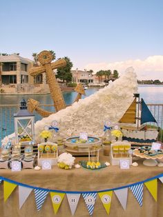 """Photo 7 of 28: Nautical Baby Shower / Baby Shower/Sip & See """"Ahoy, Baby!""""   Catch My Party"""