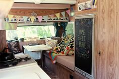 this brave, belonging to Elizabeth of Delightfully Tacky, was one of the first RVs I ever saw that made me realize how badly i wanted to start traveling .  so gorgeous!  and she's so young, which is really inspiring.