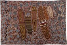 Uta Uta Tjangala : Old Man's Dreaming (Rêve du vieil homme), 1983. Art aborigène, peinture acrylique sur toile.