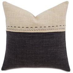 Gilmer Charcoal W/brulee Top from Eastern Accents Diy Pillows, Linen Pillows, Outdoor Throw Pillows, Sofa Pillows, Custom Pillows, Linen Bedding, Accent Pillows, Decorative Pillows, Bed Linens