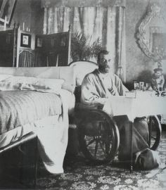 Tsar Nicholas II of Russia recovering from Typhoid fever in 1901, taken in Livadia, Crimea. His illness had been an immense toll on his third daughter, Maria. The Grand Duchess was only two years old and she missed her father quite terribly. The little one was seen kissing a miniature portrait of her father, when the Tsar was down with the fever.
