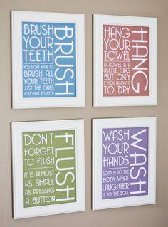 Print Your Own - Bathroom Signs - Modern. $14.00, via Etsy.