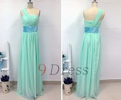 Hey, I found this really awesome Etsy listing at https://www.etsy.com/listing/227629207/new-mint-one-shoulder-chiffon-long