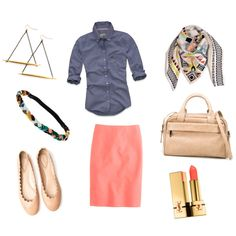 Not sure that I would put this shirt with the skirt but overall like this whole outfit.
