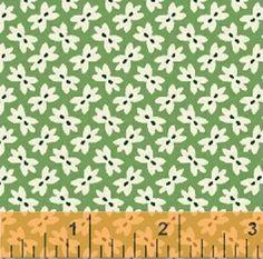 Half Yard Storybook Classics - Bow Ties in Green - Kids Themed Cotton Quilt Fabric - Whistler Studios for Windham Fabrics, $5.25