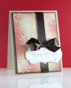 DeNami Happy Holiday Snowflake card by @Laurie Willison #christmas