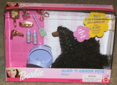 1999 Barbie Glam N' Groom Dog Pets Play Set - Keely - Mattel - NIB - Rare