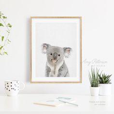 Koala Art Print Koala Print Australian Woodland Animal Art   Etsy