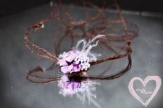 Baby Head tie newborn shabby chic jute w by greenearthstudio, $7.75