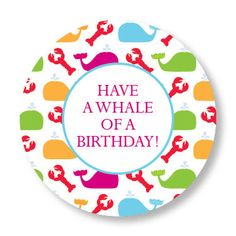 Rainbow Whales and Lobsters Gift Stickers