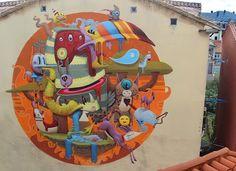 New mural by @dulk1 in Santander Spain. // Found via @streetartnews. by powwowworldwide
