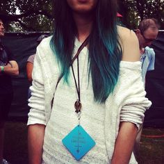 I love this hair color right here. Ombre blue.