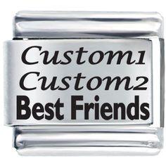 Italian Charms - friends custom laser italian charms bracelet link Image.