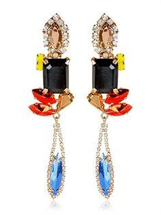 IOSSELLIANI - DECO' CLIP EARRINGS - ¥40,000+tax Iosselliani, 2014 Fashion Trends, Luxury Shop, Clip Earrings, Jewelry Box, Jewellery, Bling, Deco, Bauble