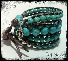 Bracelet / pulsera Wrap turquesa