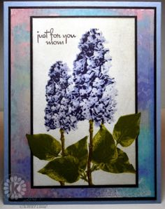 Designs by Lisa Somerville: using Multi Step Lilacs from Kitchen Sink Stamps