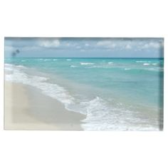 Extreme Relaxation Beach View Ocean Table Card Holders