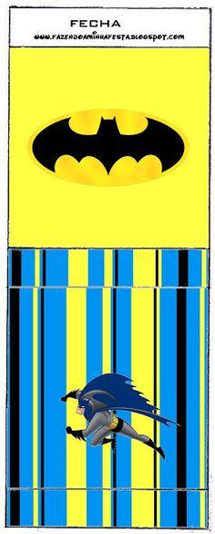 Batman - Kit Completo com molduras para convites, rótulos para guloseimas, lembrancinhas e imagens!