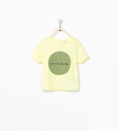Image 1 of ORGANIC COTTON T-SHIRT WITH TEXT from Zara