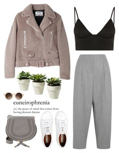 """They always said you'd make it far But they failed to mention how"" by lizasamoylova ❤ liked on Polyvore featuring Acne Studios, T By Alexander Wang, Chloé and Missguided"
