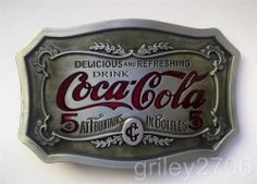 Brand New COCA COLA Belt Buckle Attachment Mens Drink Can Bottle Fizzy Silver