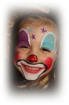 Bildergebnis für clownsgesicht schminken kind