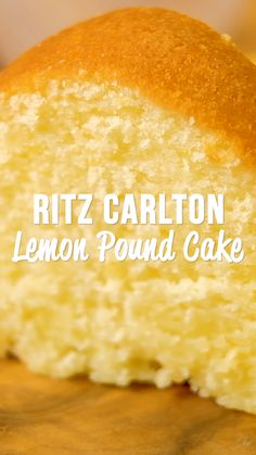 Ritz Carlton Lemon Pound Cake - the only from scratch Lemon Pound Cake recipe you will ever need! It tastes amazing! This recipe never lets me down. Lemon Desserts, Delicious Desserts, Recipes With Lemon Curd, Lemon Curd Dessert, Cake Mix Desserts, Pineapple Dessert Recipes, Indian Dessert Recipes, Desserts For A Crowd, Indian Snacks