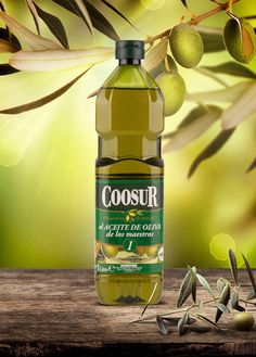 Coosur Spanish Olive Oil on Packaging of the World - Creative Package Design Gallery Olive Oil Packaging, Bottle Packaging, Bottle Mockup, Label Design, Package Design, Branding Design, Olive Oil Image, Plastic Bottle Design, Spanish Olive Oil