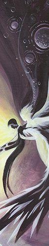 Ausschnitt von 'Winged Sadness' - Ein #Acryl Gemälde von Christina Busse | www.christinabusse.de | #Leinwand | 50x40cm | Entstehungsjahr 2012 | #Fantasy #Engel