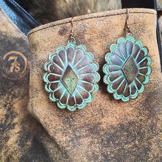 Torrey Earrings - copper patina southwest earrings from Savannah Sevens Western Chic