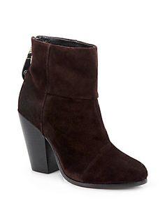 Rag & Bone Newbury Suede Ankle Boots - ASPHALT - $495 - SAKS.COM
