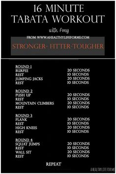 52 Tips for Health and Fitness Success #3 - A Healthy Life For Me #Tabata