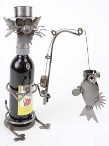 Yardbirds® Wine Caddies at Shop Handmade. Cat Sport-Fishing - 9x5.5x15.5 (LxWxH)