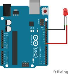 Arduino'da ilk dersime hoş geldiniz. Arduino - LED bağlantı şeması. Bu derste, arduino'ya yazılan kod ile otomatik olarak LED'i yakıp söndüremeyi öğreneceğiz.