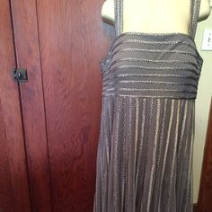 """NWT Jacques Vert Elegant Dress Beautiful silver/grey UK Jacques Vert special occasion dress. Falls below my knees, I'm 5'2"""". Own a UK design, nobody will have this dress on when you wear it!!!! Simply stunning  Dresses"""