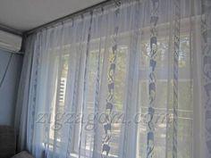 Готовый тюль на окне