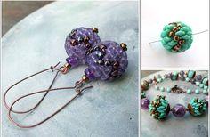Matubo Medium Ball Earrings Superduo Beads Jewelry Making Beaded Earrings