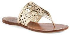 Tory Burch Lattice Gold Sandals